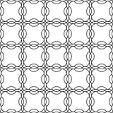 Black and white geometric seamless pattern chinese style, abstra Royalty Free Stock Images