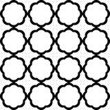 Black and white geometric seamless pattern chinese style, abstra Royalty Free Stock Photo