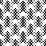 Black and white geometric seamless pattern with circle, abstract. Background, vector, illustration Royalty Free Stock Images