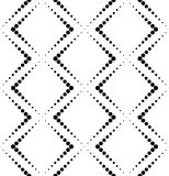 Black and white geometric seamless pattern with circle, abstract. Background, vector, illustration Royalty Free Stock Photo