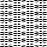 Black and white geometric seamless pattern with circle, abstract Stock Images