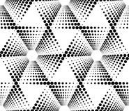 Black and white geometric seamless pattern with circle, abstract Stock Photography