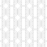 Black and white geometric seamless pattern for coloring book, page. Abstract background for cover, wallpaper, decor. Black and white geometric seamless pattern Stock Images