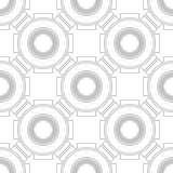 Black and white geometric seamless pattern for coloring book, page. Abstract background for cover, wallpaper, decor. Black and white geometric seamless pattern Stock Photos