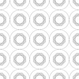 Black and white geometric seamless pattern for coloring book, page. Abstract background for cover, wallpaper, decor. Black and white geometric seamless pattern Stock Image
