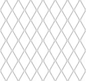 Black and white geometric seamless pattern with dashed line, abs Stock Image
