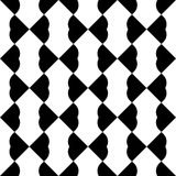 Black and white geometric seamless pattern with heart stylish, a Stock Photos