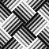 Black and white geometric seamless pattern with line, abstract b. Ackground, , illustration Royalty Free Stock Images