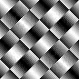 Black and white geometric seamless pattern with line, abstract b. Ackground, , illustration Royalty Free Stock Photos