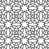 Black and white geometric seamless pattern with line, abstract b Royalty Free Stock Images
