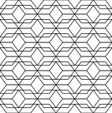 Black and white geometric seamless pattern with line, abstract b Stock Image
