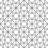 Black and white geometric seamless pattern with line, abstract b Stock Photos