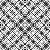 Black and white geometric seamless pattern with line, abstract b. Ackground, vector, illustration Royalty Free Stock Photography