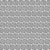 Black and white geometric seamless pattern with line. Stock Photos