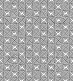 Black and white geometric seamless pattern with line. Royalty Free Stock Photography