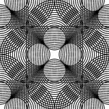 Black and white geometric seamless pattern with line and circle, Royalty Free Stock Image