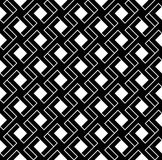 Black and white geometric seamless pattern with line and interla Royalty Free Stock Photo
