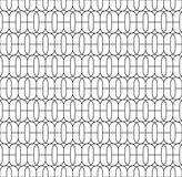 Black and white geometric seamless pattern with line and oval, a Stock Images