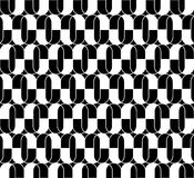 Black and white geometric seamless pattern with line and oval, a Royalty Free Stock Photography