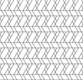 Black and white geometric seamless pattern with line, rhombus, t Stock Images