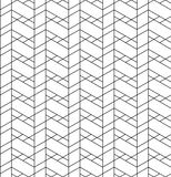 Black and white geometric seamless pattern with line, rhombus, t Royalty Free Stock Images