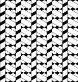 Black and white geometric seamless pattern with line, rhombus, t Stock Photos