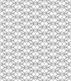 Black and white geometric seamless pattern with line and round c Royalty Free Stock Images