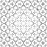 Black and white geometric seamless pattern with line and round c Royalty Free Stock Photography