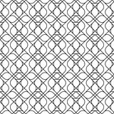 Black and white geometric seamless pattern with line and round c Stock Image