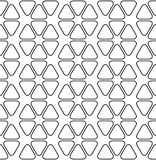 Black and white geometric seamless pattern with line and rounded Stock Photography