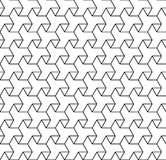 Black and white geometric seamless pattern with line and triangl Royalty Free Stock Photos