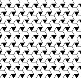 Black and white geometric seamless pattern with line and triangl Stock Images
