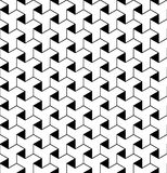 Black and white geometric seamless pattern with line and triangl Stock Photography
