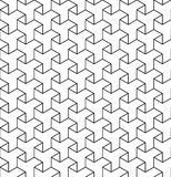 Black and white geometric seamless pattern with line and triangl Stock Photos