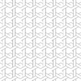Black and white geometric seamless pattern with line and weave s Royalty Free Stock Photography