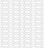 Black and white geometric seamless pattern with line and weave s Royalty Free Stock Photo