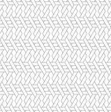 Black and white geometric seamless pattern with line and weave s Royalty Free Stock Images