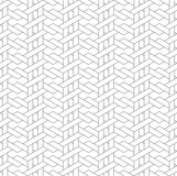 Black and white geometric seamless pattern with line and weave s Royalty Free Stock Image