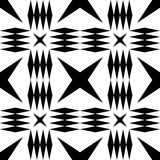 Black and white geometric seamless pattern with rhombus. Royalty Free Stock Photography