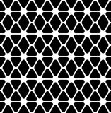 Black and white geometric seamless pattern with rounded triangle Stock Photos