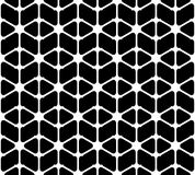 Black and white geometric seamless pattern with rounded triangle Stock Photography