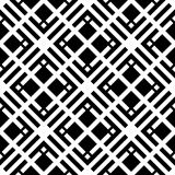 Black and white geometric seamless pattern with square and recta Royalty Free Stock Image