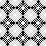 Black and white geometric seamless pattern with square and recta Stock Photography
