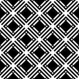 Black and white geometric seamless pattern with square and recta Stock Images