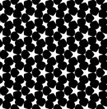 Black and white geometric seamless pattern with star, abstract b Stock Images