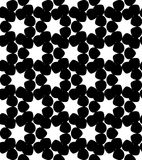 Black and white geometric seamless pattern with star, abstract b Royalty Free Stock Photography