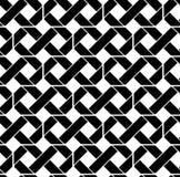 Black and white geometric seamless pattern, symmetric endless ve Royalty Free Stock Photos