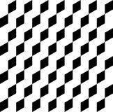Black and white geometric seamless pattern with trapezoid, abstr Royalty Free Stock Photography