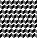 Black and white geometric seamless pattern with trapezoid and di Royalty Free Stock Photos