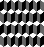 Black and white geometric seamless pattern Stock Images